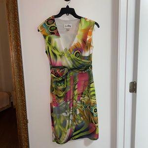 Joseph Ribkoff Size 10 Sleeveless Vibrant Dress